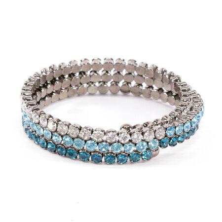 cuff bracelet: Blue Crystal Wrap Bracelet