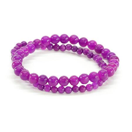 cuff bracelet: Purple Beaded Bracelets Stock Photo