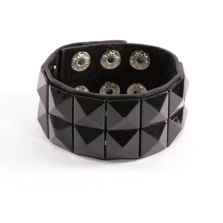 cuff bracelet: Black Studded Bracelet Stock Photo