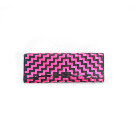 weaved: Pink and Black Weaved Purse