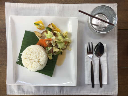 style: Thai food style in the lunch time Stock Photo