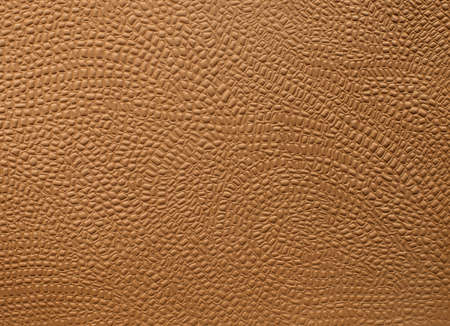 embossed: Brown embossed leather close-up