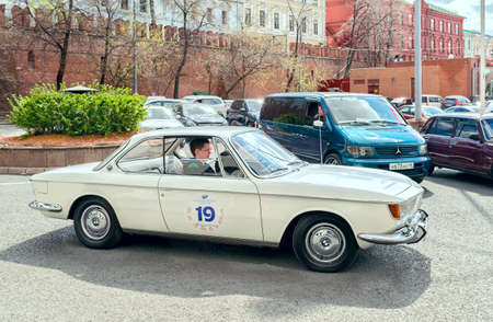 cs: Moscow, Russia - April 24, 2016: Retro cars rally named after Ingosstrakh Exclusive Classic Day. BMW 2000 CS car. Editorial