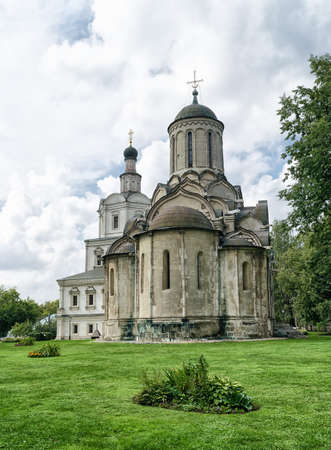 Spassky Cathedral and Church of Michael the Archangel in Andronikov monastery in Moscow, Russia.