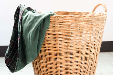 Dirty Clothes in a laundry basket