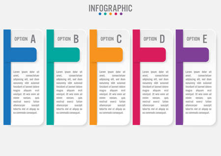 Business infographic labels template with 5 options.Creative concept for infographic.