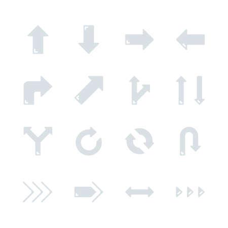Arrows in flat icon set design.Vector illustration Vectores