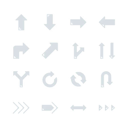 Arrows in flat icon set design.Vector illustration Ilustrace