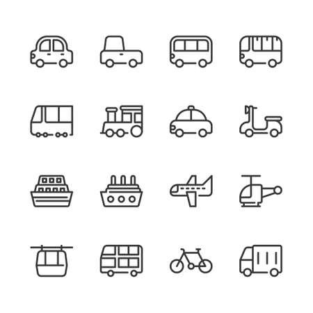 Transportation icon set.Vector illustration 版權商用圖片 - 130810114