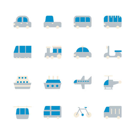 Transportation icon set. Vector illustration Ilustração
