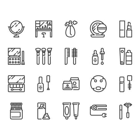 Cosmetics icon set.Vector illustration Ilustração