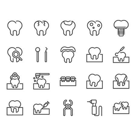 Dental icon set.Vector illustration  イラスト・ベクター素材