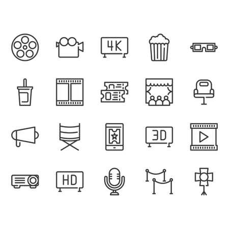 Cinema icon set.Vector illustration