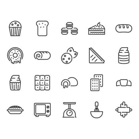 Bakery icon set.Vector illustration