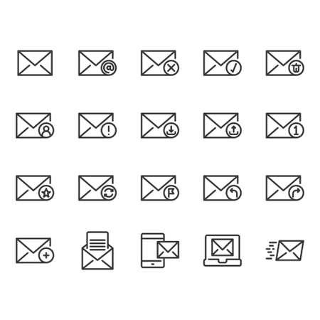 Email icon set Ilustração
