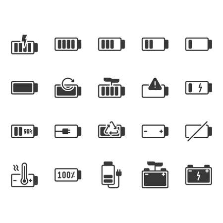 Battery icon set.Vector illustration