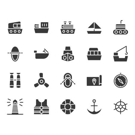 Ships related icon set