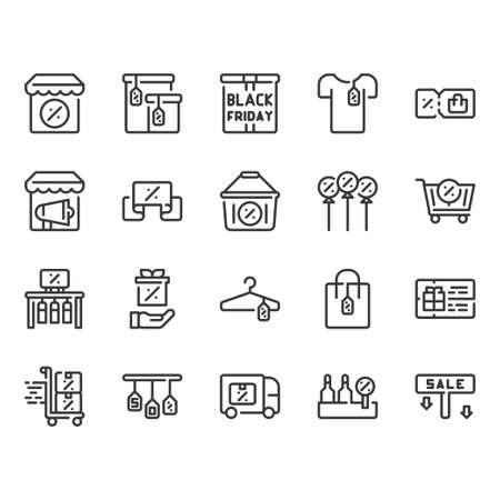 Black Friday icon set