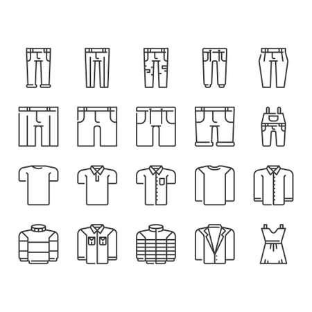 Clothes icon set Illusztráció