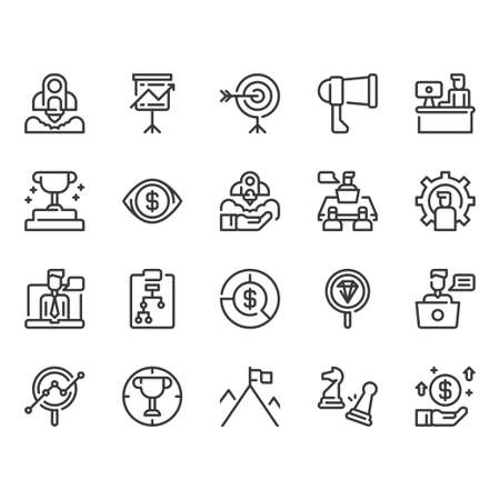 Startup and business icon set