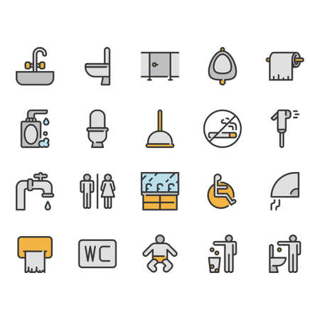 Restroom icon set.Vector illustration
