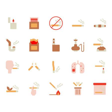 Smoking and tobacco icon set