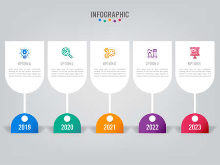 Business infographic labels template with options.Creative concept for infographic.
