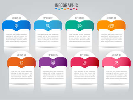 Business infographic labels template with options. Creative concept for infographic.