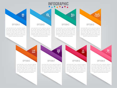 Business infographic labels template with options. Creative template for presentation