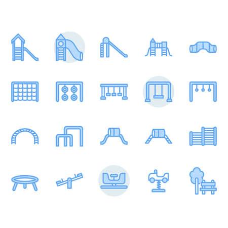 Playground icon and symbol set Illustration