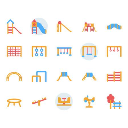 Playground icon and symbol set in flat design