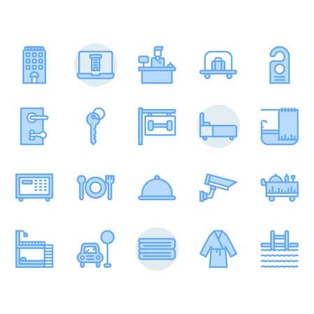 Hotel service icon and symbol set