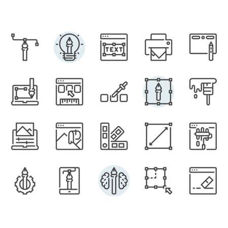 Graphic design icon and symbol set
