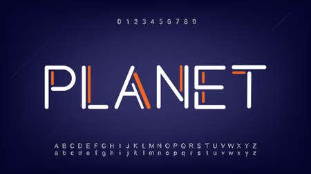 Futuristic and digital technology alphabet fonts
