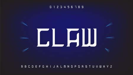 Futuristic and digital technology,geometric alphabet fonts