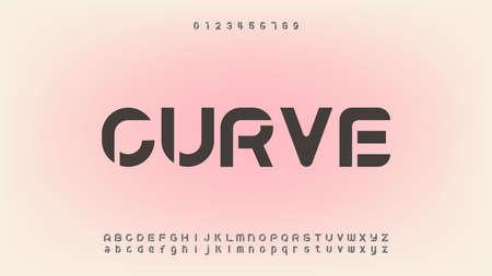 Abstract modern alphabet fonts Illustration