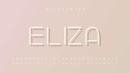 Minimal modern alphabet fonts