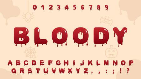 red blood alphabet