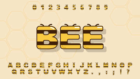 Cute alphabet in cartoon style for kid