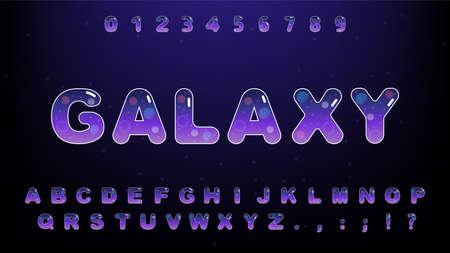 Cute galaxy alphabet set Banque d'images - 153435883