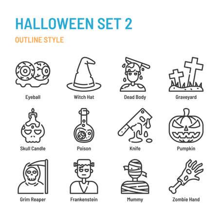 Halloween icon and symbol set
