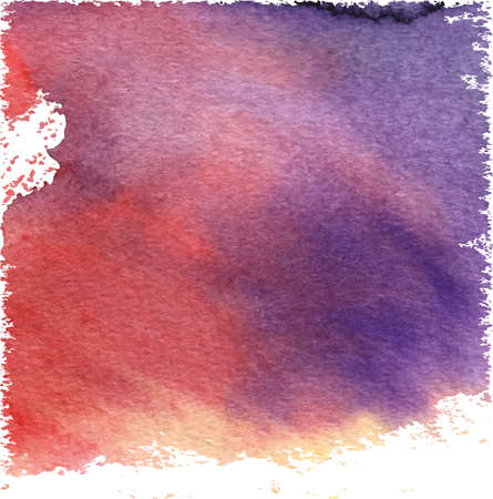 wet paint: Lilac-pink abstract background for design. Watercolor texture effect. Abstract colorful watercolour art background hand paint on wet paper.