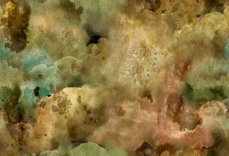 Aquarell helle nahtlose Muster mit abstrakten Galaxie, Wolken. Zusammenfassung Hintergrund. Standard-Bild - 54007147