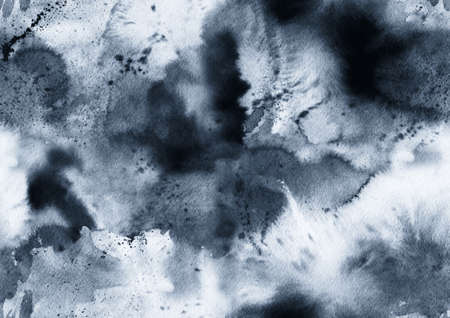Hand painted ink seamless pattern with abstract galaxy, space, sky, smoke.