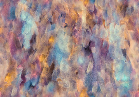 Hand painted Watercolor luminous iridescent seamless pattern. Abstract squama. Texture for textiles, packaging, greeting cards, scrapbooking. Stock Photo