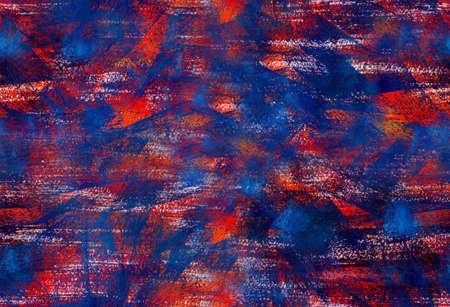 Met de hand geschilderd gouache naadloze patroon met abstracte penseelstreken. Grunge textuur voor textiel, verpakkingen, wenskaarten, scrapbooking.