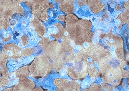 Handverf waterverf atmosferische naadloze patroon. Lichtgevend effect Textuur voor textiel, verpakking, wenskaarten, scrapbooking. Stockfoto