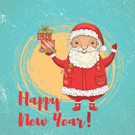 크리스마스 카드 디자인 일러스트 레이 션.