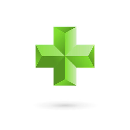 plus sign: Medical  icon design template with cross and plus. Vector sign. Illustration