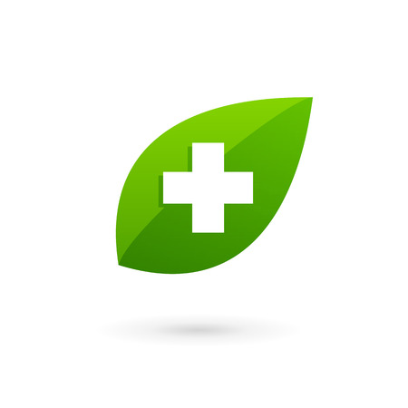 vector medical: Medical eco  icon design template with cross and plus. Vector sign.